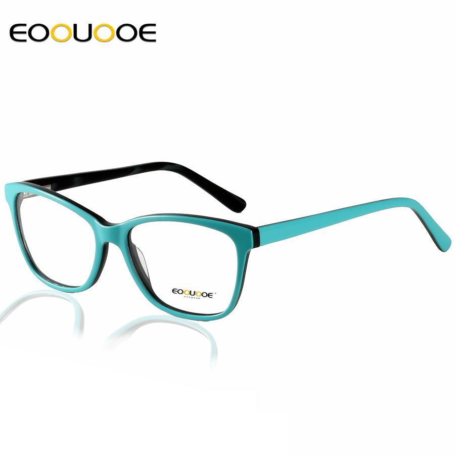 c2a44184d5 Compre EOOUOOE Marco De Anteojos De Acetato Mujer Gafas Graduadas Óptico  Miopía Gafas De Estilo De Los Pueblos Gafas De Grau Feminino A $34.25 Del  Gwyseller ...
