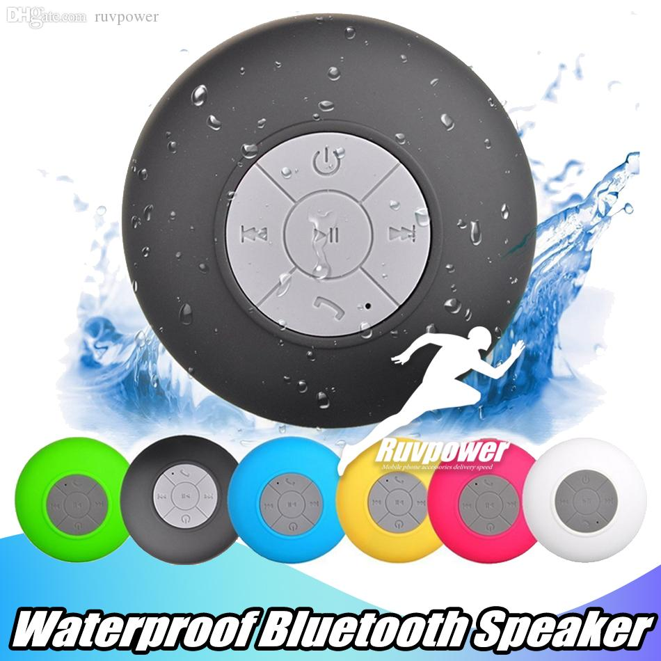 For Samsung S8 IPX4 Hand-free Shower Speakers Waterproof Wirelesss Mini Bluetooth Speaker All Devices laptop for Bathroom Pool Boat Use