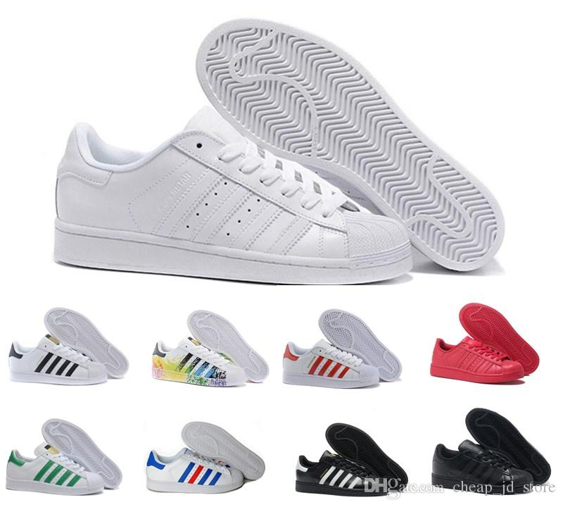 premium selection 288fa efbd9 Compre Adidas Originals Stan Smith Superstar 80s Diseñador De Zapatos  Casuales Holograma Blanco Iridiscente Junior 80 S Orgullo Zapatillas De  Deporte De Las ...