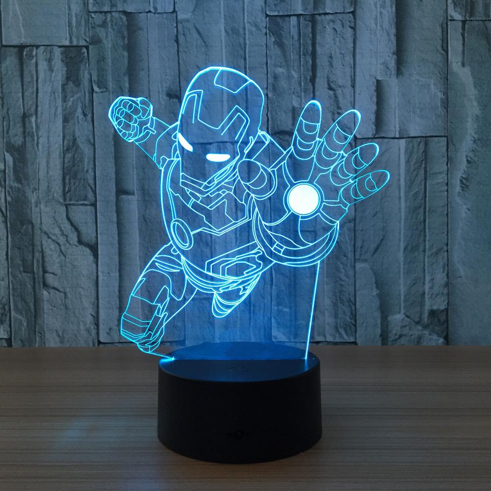 2018 Iron Man Lamp 3d Visual Led Night Lights For Kids Touch Usb Table  Lampara Lampe Baby Sleeping Nightlight Room Lamp From Alluring, $24.86 |  Dhgate.Com