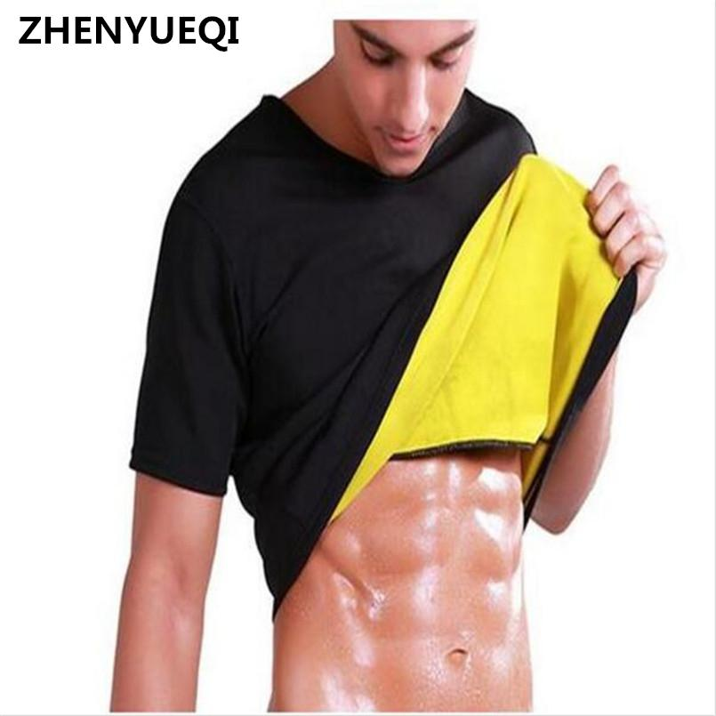 c50dccdd5ed23 2019 Men s Thermal Body Shaper Slimming Shirt Hot Shapers Compression Slim  Shirt Neoprene Waist Trainer Body Shaper Slim Vest T Shirt From Alfreld