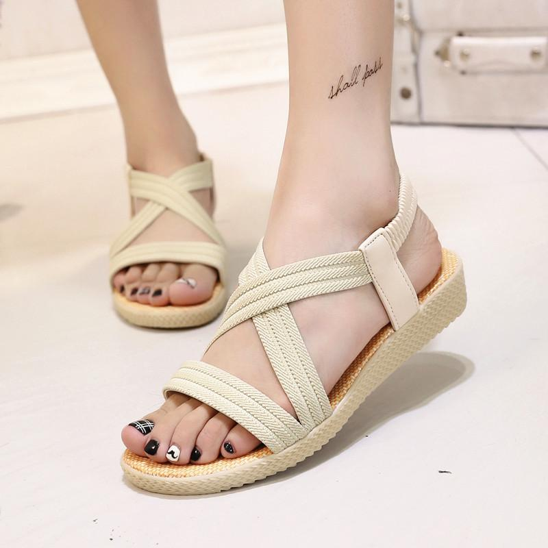 89cb7358fa86 Women Sandals Bohemian Style Women Shoes Classic Sandals Comfort Ladies  Slippers 2019 Fashion Summer Beach Flat Strappy Sandals Skechers Sandals  From ...