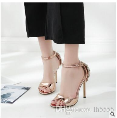 Large size of foreign trade women's shoes early spring new Europe and the United States explosion models female sandals high with fish mouth