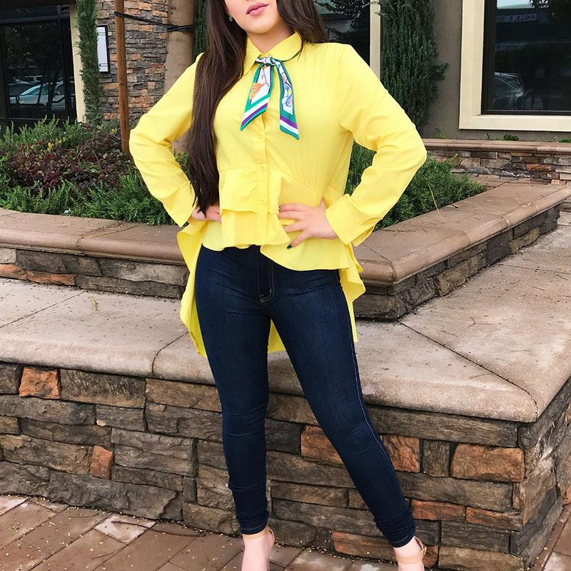c84f14f223bc8 Largas Casual Camisas Tops Fashion Shirt Mujeres Compre 2018 Blusas FXw8Bq0x
