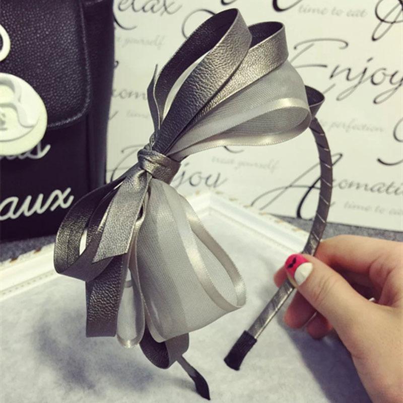 Großhandel Retro Leder Mesh Garn Multi Layer Bowknot Haarband ...