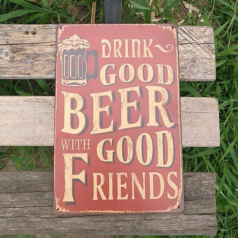 Ome Decor Plaques Signs Vintage Bar Wall Decor Metal Posters Print ...