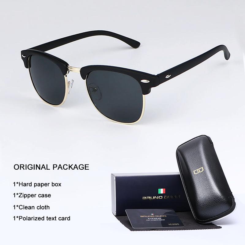 a0a4f8f172 Compre Bruno Dunn Gafas De Sol Vintage Hombres Mujeres Polarizadas 2018  Diseño De Marca Gafas De Sol Para Hombre Mujer Gafas Lentes Oculos Lunette  Ray A ...