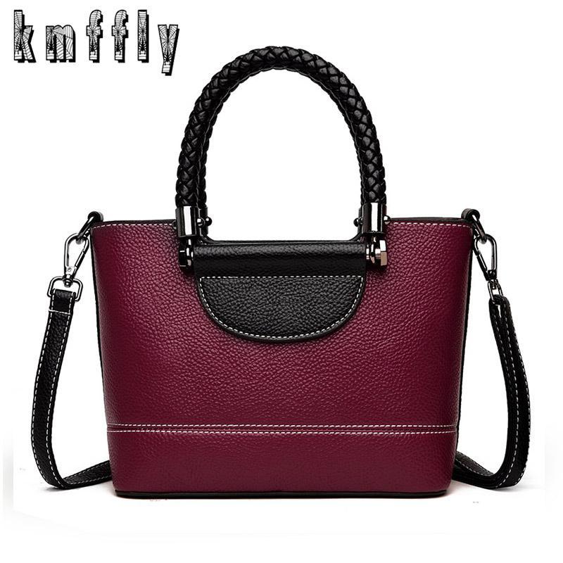 cf70a2249ea KMFFLY New Women Bag 2018 Luxury Brand Designer Casual Women High Quality  Leather Handbags Fashion Shoulder Messenger Bag Top-Handle Bags Cheap  Top-Handle ...