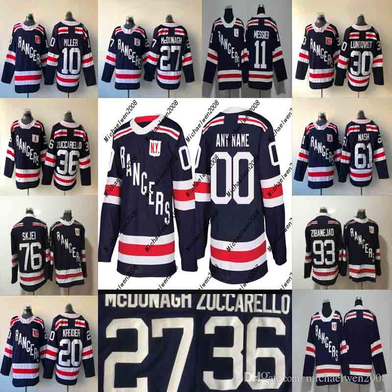 Mens Womens Youth 2018 Winter Classic New York Rangers Jerseys 27 Ryan  McDonagh 30 Henrik Lundqvist 36 Mats Zuccarello 10 J.T. Miller Jersey UK  2019 From ... f96e65aa2