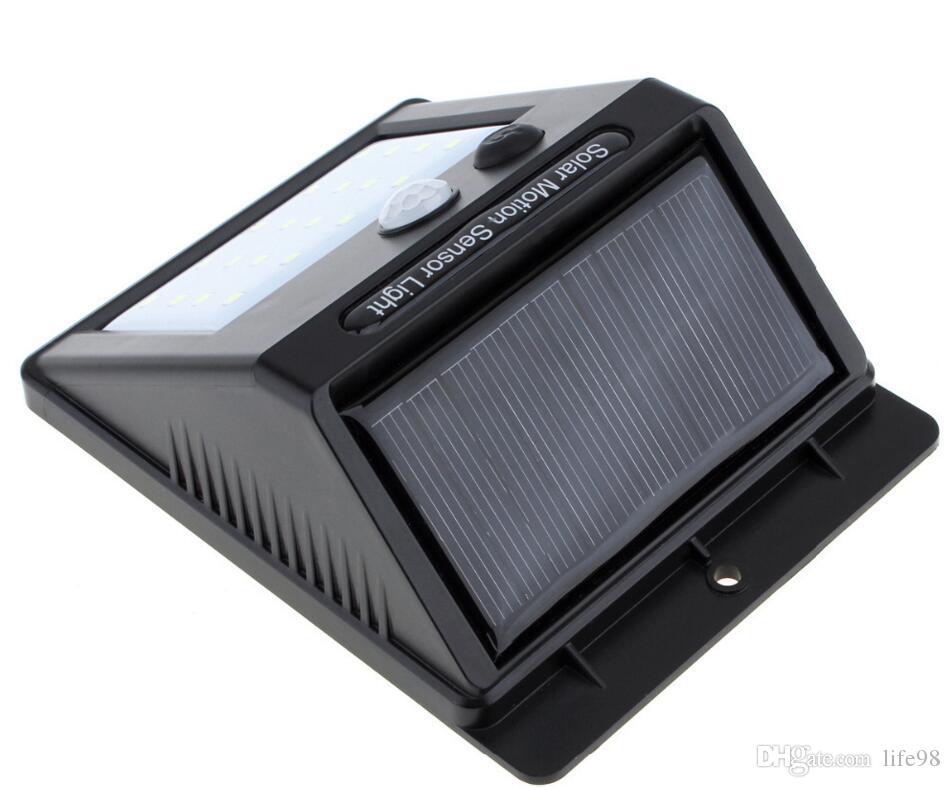 37 20LED Solar Powered Sensore di movimento Luce Esterna Solare Led Luci di inondazione Faretti Giardino Patio Pathway Lamps Illuminazione di emergenza