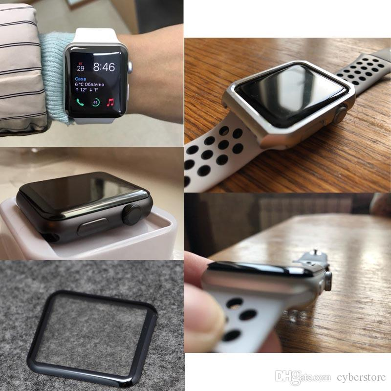 Apple Watch 3D protezione totale in vetro temperato schermo 42mm 38mm 44mm Anti-graffio senza bolle iWatch Series 1/2 / 3/4