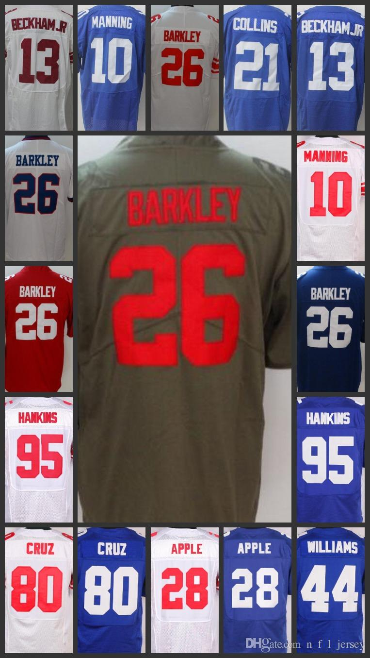 wholesale dealer 01fb0 8c81f Men Women New York Giants Jersey#26 Saquon Barkley 13 Odell Beckham 10 Eli  Manning 87 Sterling Shepard Youth Embroidery Jerseys