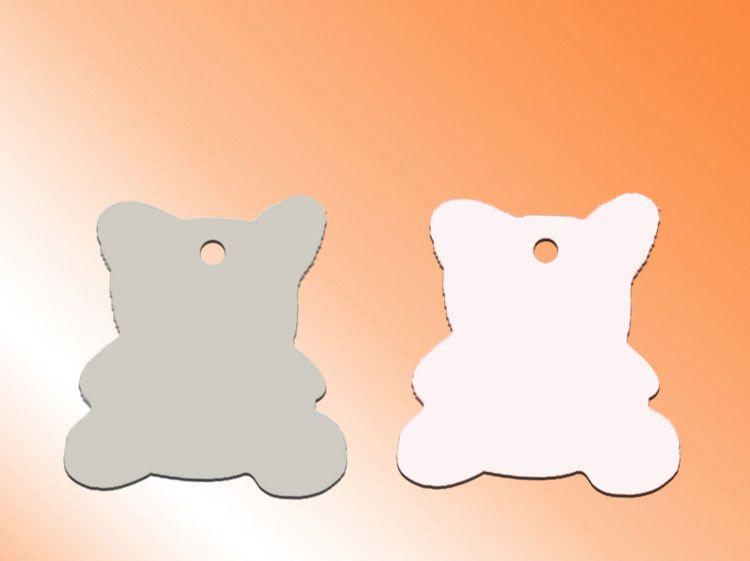 Hundemarke Blanko Anhänger für Sublimation Blanko Herz Runde Charm Anhänger für Wärmeübertragung Blanko Verbrauchsmaterial 20styles Großhandel