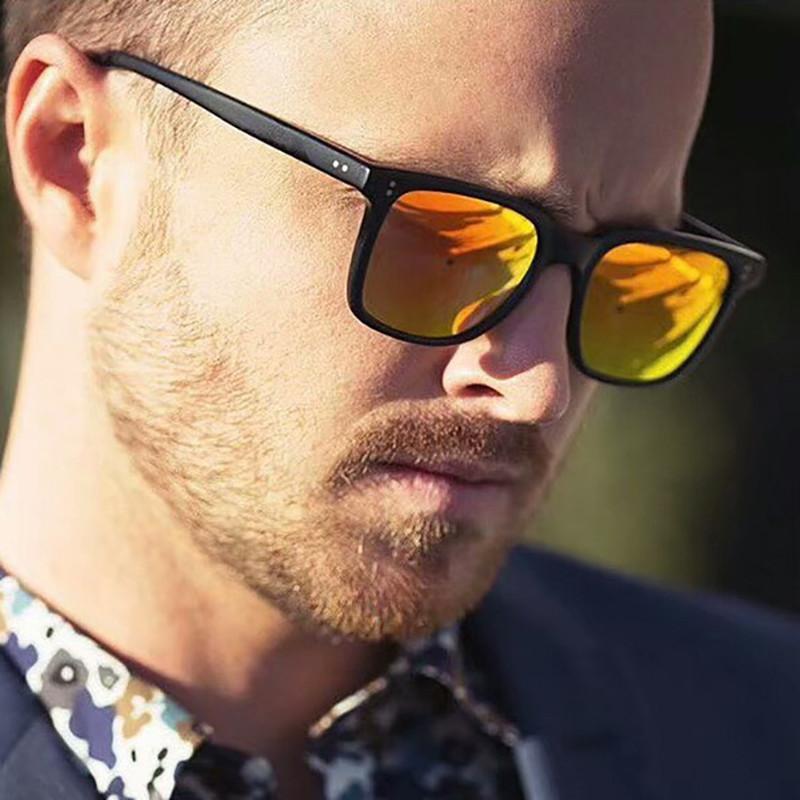 Compre 2019 Clássico Quadrado Óculos De Sol Dos Homens Designer De Marca  Retro Revestimento De Espelho Do Vintage Óculos De Sol Dos Homens Óculos De  Sol ... 2e18a065f5