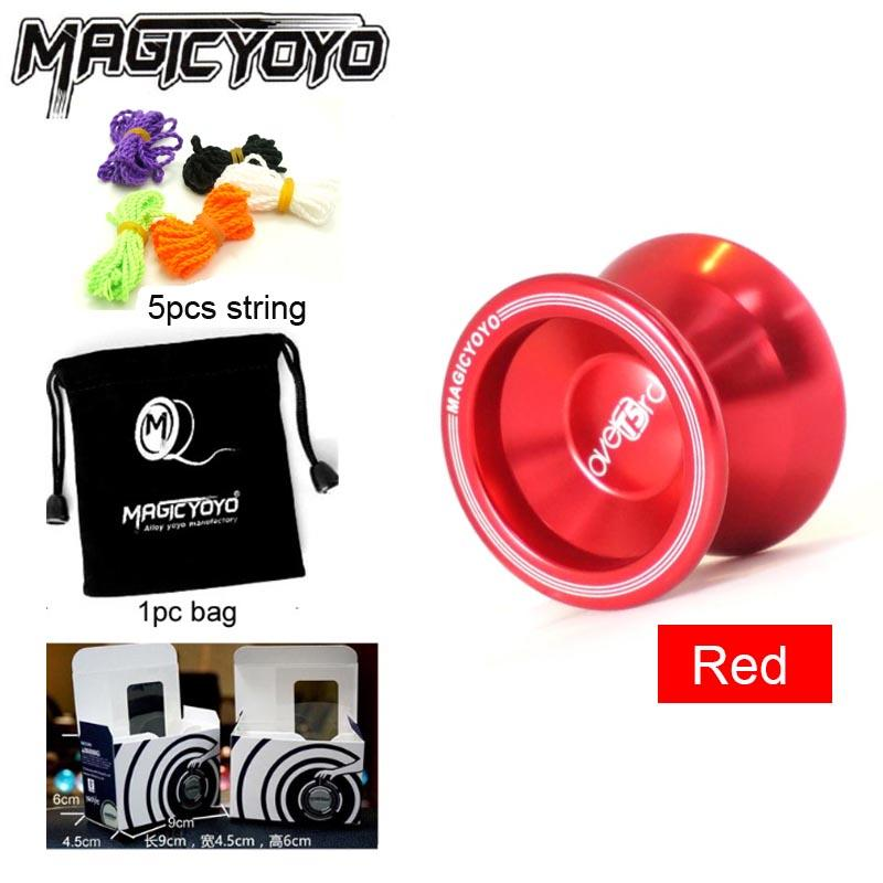 Magic Yoyo T5 Alloy YOYO Metal Professional Bearing Yo-Yo Toy For Child Include 5pcs String+Bag