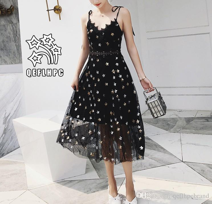 047b58e163c Women'S Clothes Dress Summer Sexy Beach Chiffon Dress Thin Polyester  Material Casual Dresses Chambray Longuette Striped Black V Neck A21752  Party Dresses ...