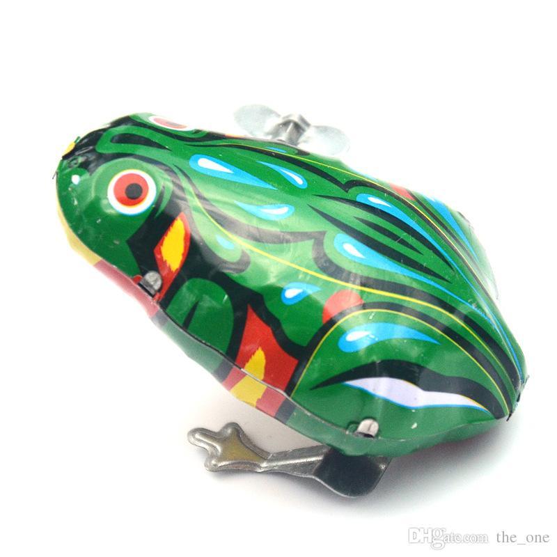Klasik Mini Wind-up Oyuncak Kurbağa Clockwork Çocuklar Bebek Güzel Renkli Eğlenceli Yenidoğan Çocuklar Erken Eğitim Bahar Çocuk Bebek Oyuncakları