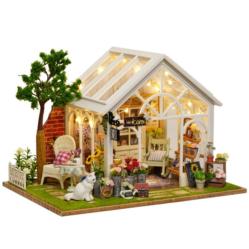 Model Building Sunny Miniature Dollhouse Tin Box 3d Handmade Puzzle Dollhouse Kit With Furnitures Educational Toy For Kids Birthday Christmas Gift
