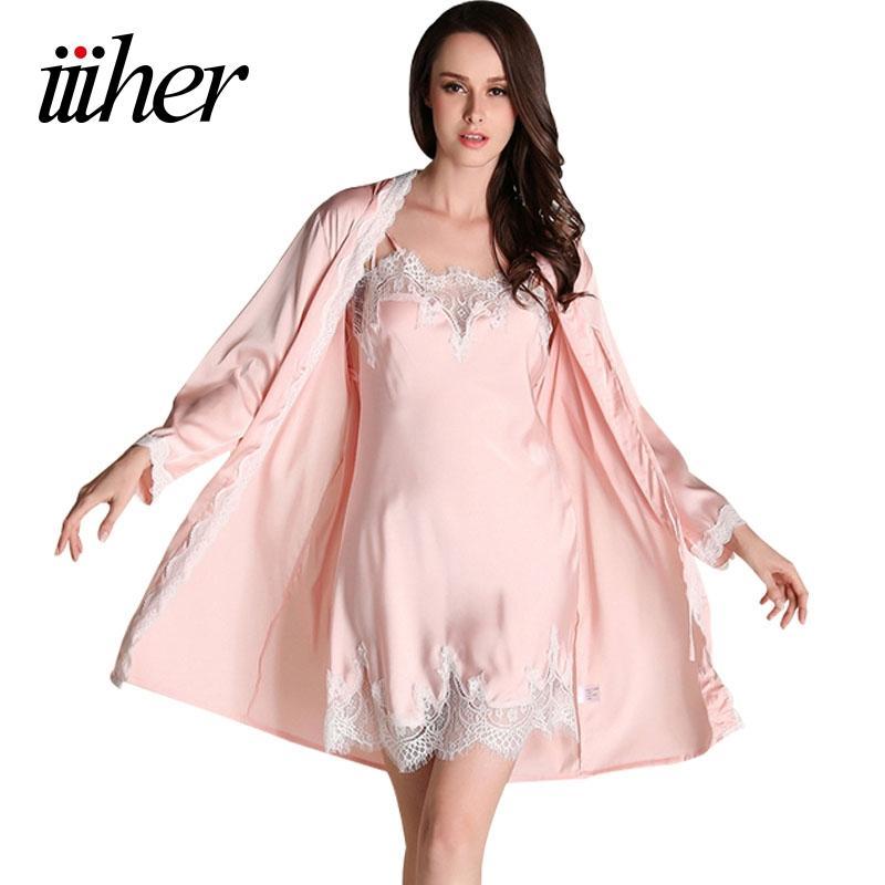 c0b0b8c5c7 2019 Iiiher Bridesmaid Robes Gown Sets Sexy Lace Robe Women S Sleepwear  Sleep Suits Pajama Sets Womens Nightwear Night Skirts From Macloth