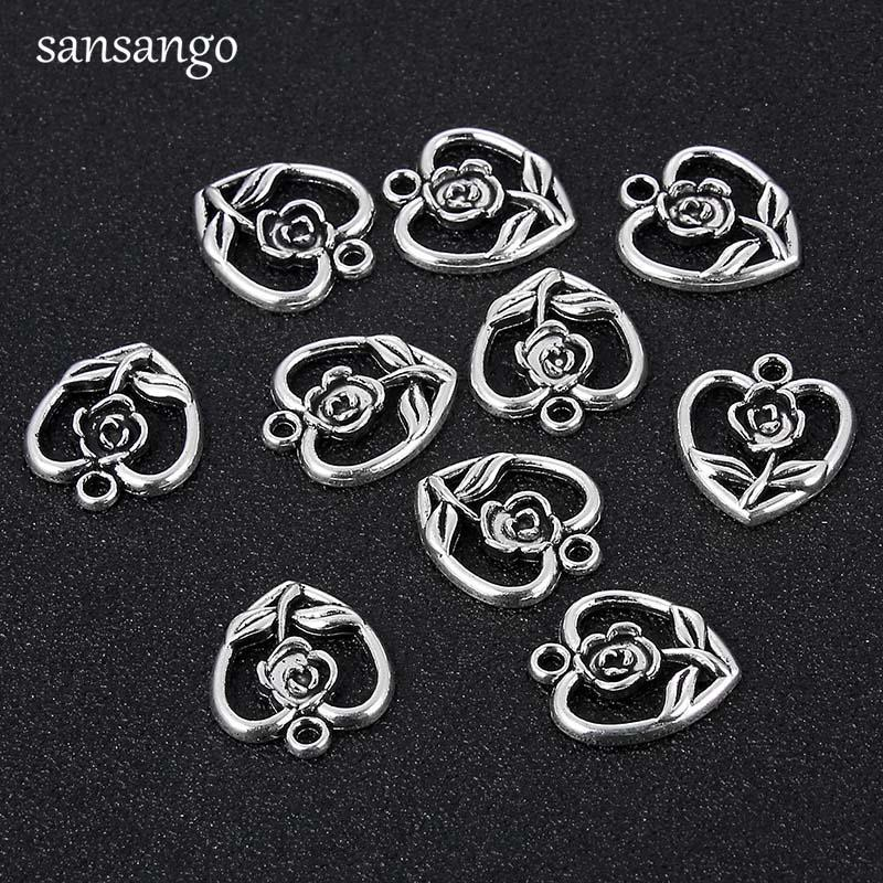 Beautiful Wholesale 5pcs European Charm Beads Tibetan Silver Plated Metal Enamel Flower Charms For Jewelry Making Bracelets Fast Shipping Jewelry & Accessories