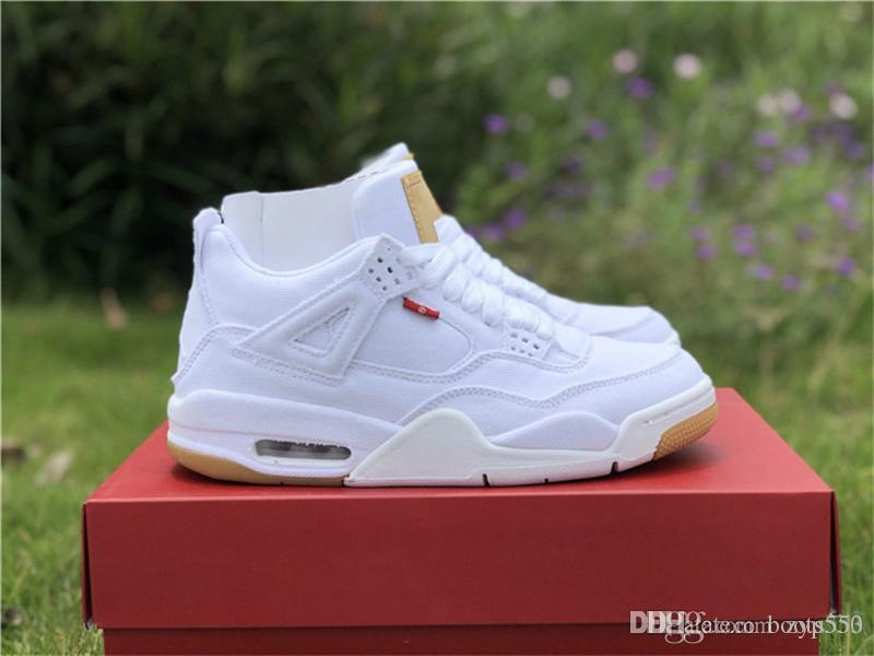 beea0d218258 2018 New OG 4 Denim 4s Black White Jean Jiont Limited For Man Basketball  Shoes Sneakers Authentic Quality With Original Box AO2571 001 Best Basketball  Shoes ...