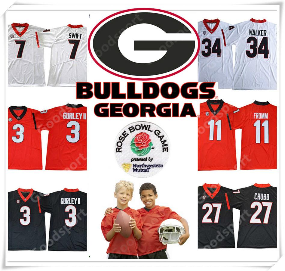d34d9c270 YOUTH Rose Bowl 2018 Georgia Bulldogs NCAA Jersey 3 GURLEY II 7 ...