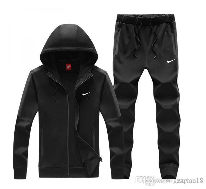 09b50eb1dd NIKE Brand Tracksuits Men Leisure Sport Suit Luxury Men's Sportswear design  Jogger Set Cool Sweatshirt free shipping 509-1836