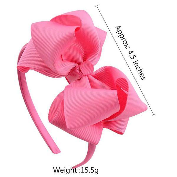 High quality Infants Hair Hoop Ribbon Bow Hair Sticks for Girls Fashion Kids Baby Big Double Bows Headwear Hairs Accessories