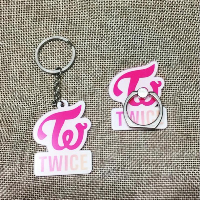 Youpop KPOP Twice Signal Album Twiceland Key Chain Acrylic Cartoon Keychain  K-POP Key Ring Pendant Case 360 Degree XSD013