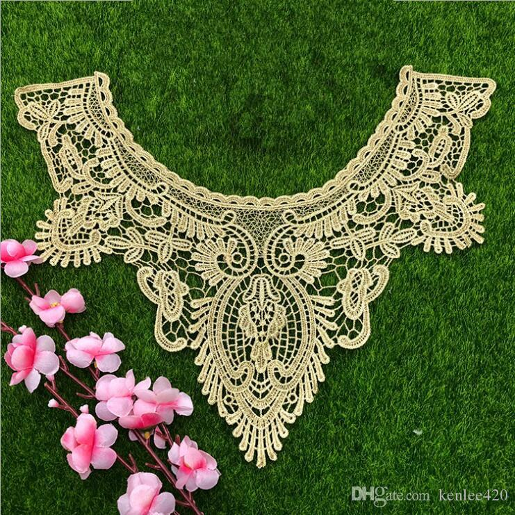 New France 2018 Grape Lace Collar Fabric Trim Diy Embroidery Lace