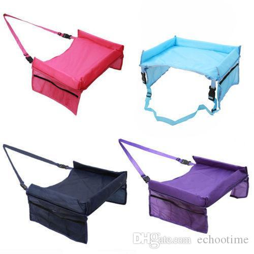 Hot Selling 5 Colors Baby Car Safety Belt Travel Play Tray Waterproof Foldable Table Baby Car Seat Cover Pushchair Snack
