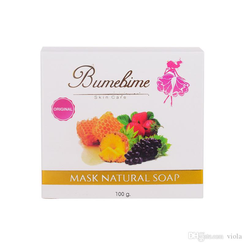 Bumebime Handmade Soaps with Fruit Essential Natural Mask Bright Oil Soap Body Skin Smooth Soap 100g