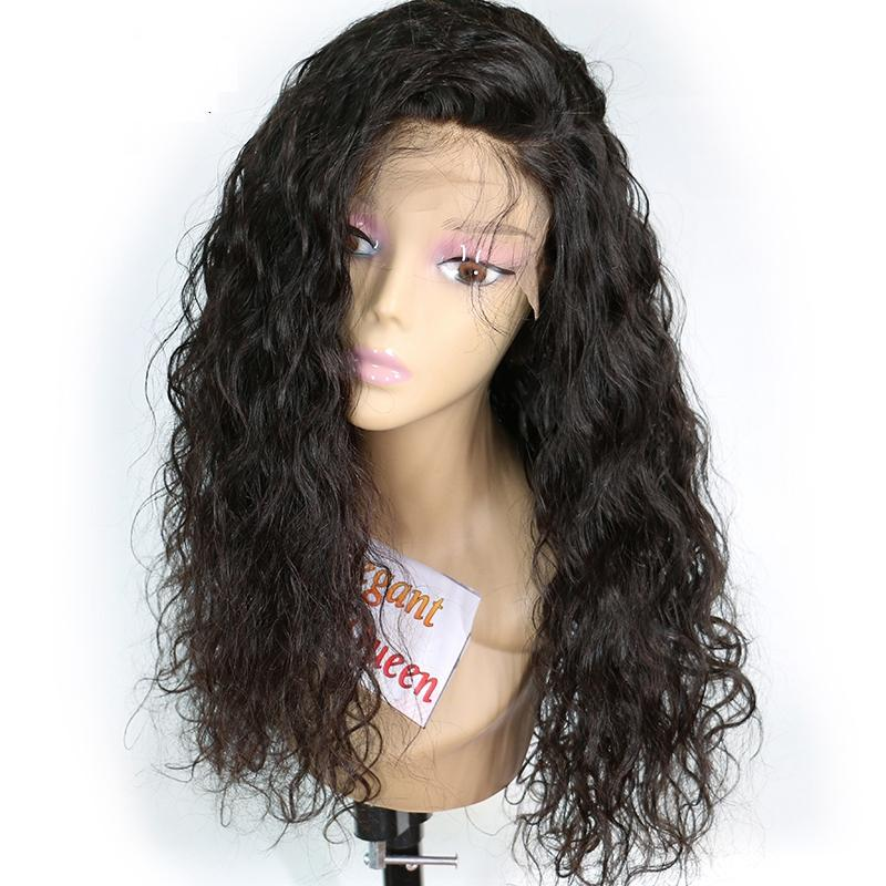 Lace Front Human Hair Wigs For Black Women Loose Curly Lace Front Wig Brazilian Virgin Hair Wigs With Baby Hair Bleached Knots