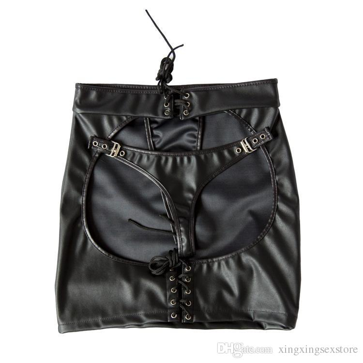 3 Taille Pour Choisir Doux PU En Cuir Sexy Cosplay Bondage Fessée Jupe Big Butt Expond Sexy Érotique Sex Toys Pour Femmes Adulte Jeu