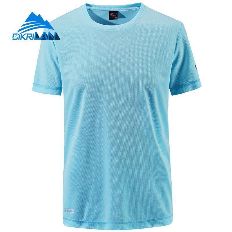 ef692441e487 2019 Mens Summer Short Sleeve O Neck T Shirt Outdoor Sport Quick Dry  Camping Hiking Running T Shirt Men Climbing Fishsing T Shirts From Pearguo