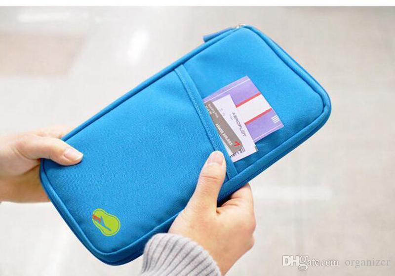 Özel logo 100 adet Pasaport Tutucu Bilet Cüzdan Çanta KIMLIK Kredi Kartı Saklama Çantası Seyahat pasaport Cüzdan Tutucu Organizatör P ...