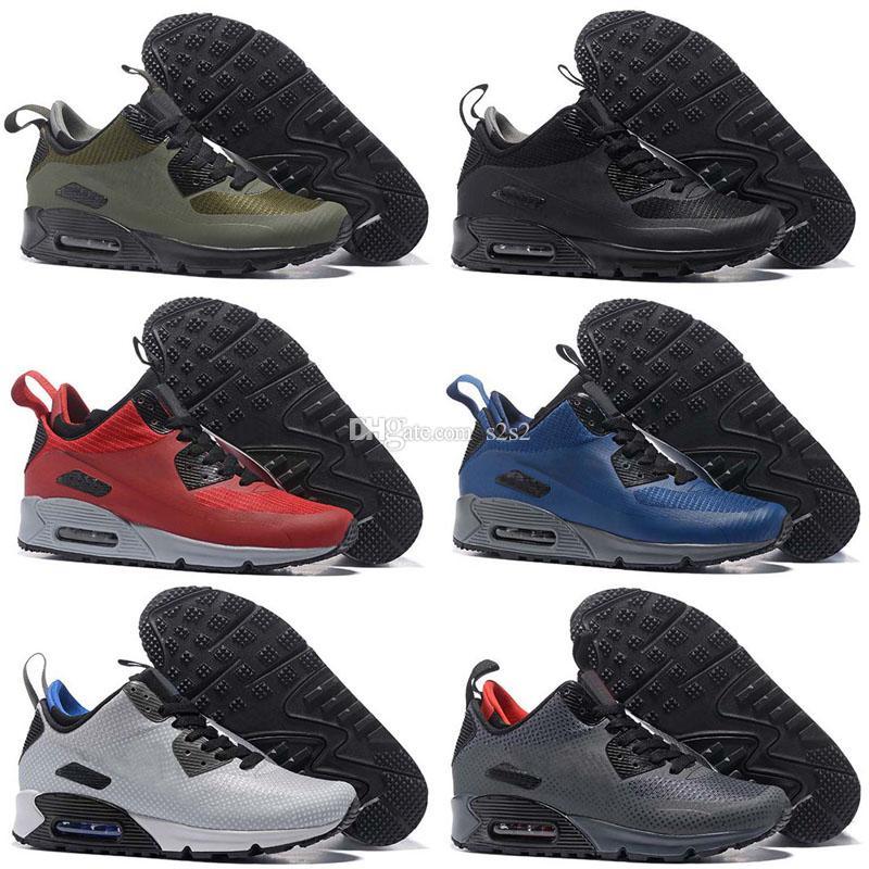 huge discount 64369 bf334 Compre Alta Calidad 2018 Air Cushion 90 Zapatos Corrientes Para Mujeres  Hombres Zapatos Deportivos Zapatillas De Deporte Zapatillas Chaussures  Maxes Eur ...