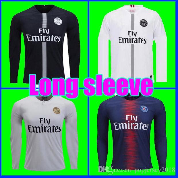034dd824d Thailand Maillot FULL LONG SLEEVE PSG Soccer Jersey 2019 Paris ...