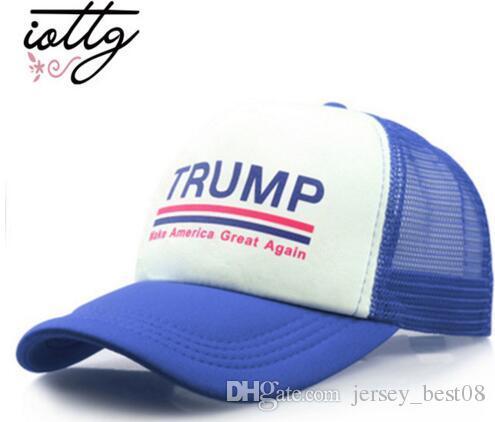 02993fa2a4b 2018 Iottg Make America Great Again Mesh Baseball Cap Trump Hat Women  Snapback Hat Outdoor Sports Hats Trucker Hat Men Casual Caps From  Jersey best08