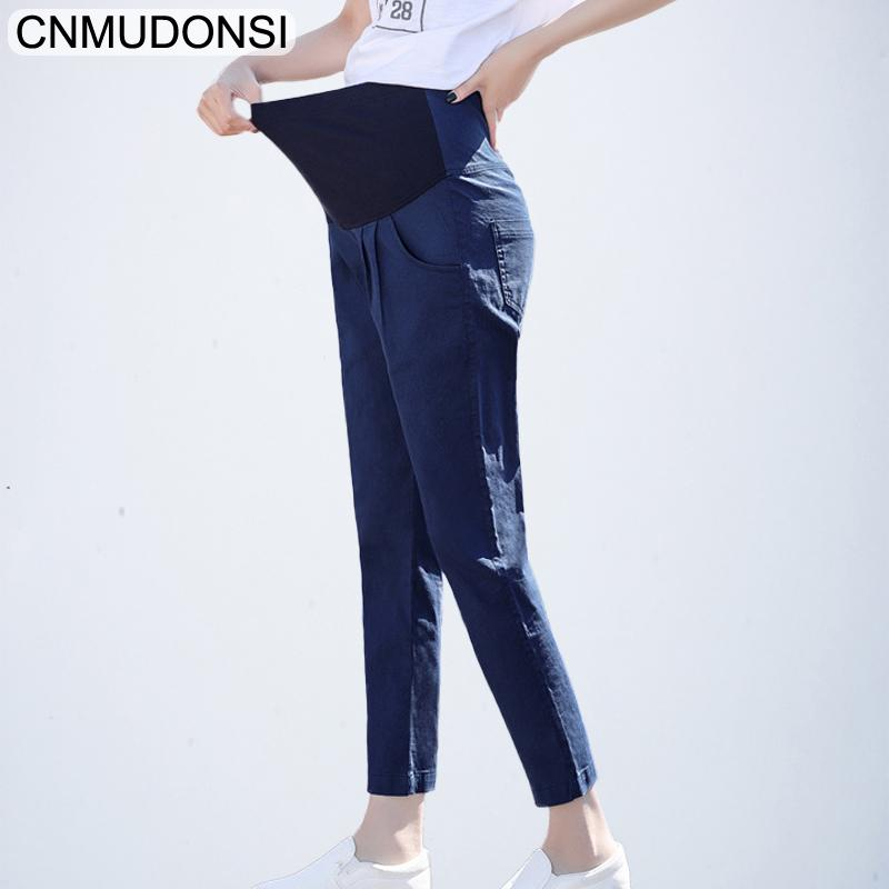 b633c97611 Compre Pantalones Para Mujeres Embarazadas Ropa De Cintura Alta Pantalones  De Maternidad Ropa Interior Para Embarazadas Leggings Maternidad Capris  Pantalone ...