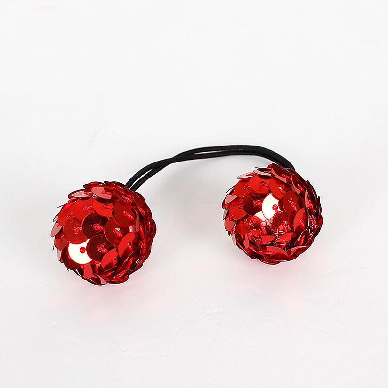 Pretty Dots Elástico Tie Hairband Banda de goma Titular de cola de caballo Pulseras Glittle Ball sombreros accesorios para el cabello H24