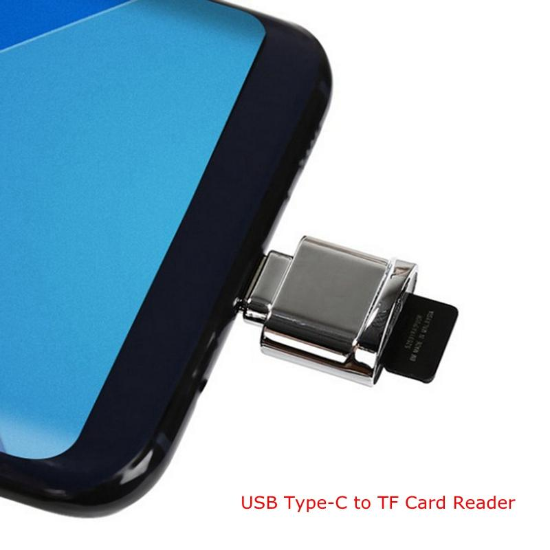 USB 2.0 Type C OTG USB-C to Micro SD SDXC TF Card Reader 128G Adapter for Macbook & xiaomi 5 Huawei Plus