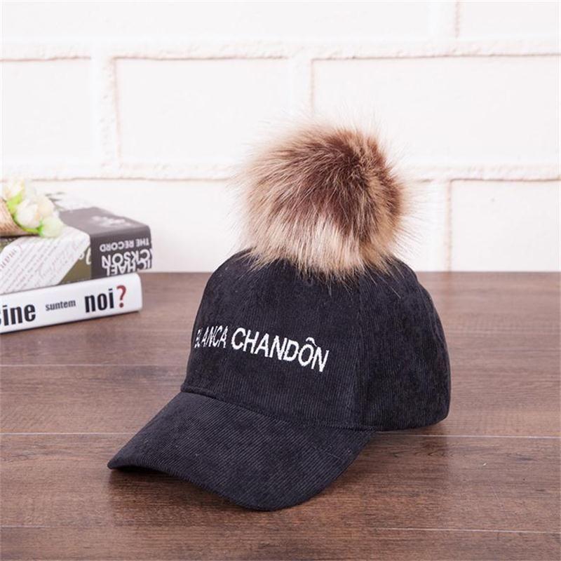 1959a3f8f51 2018 Winter Women Fashion Felt Hat With Fur Pom Pom Femme Peaked Cap Riding  Hat Girl Adjustable Baseball Cap Christmas Gift Baseball Hat Hat Store From  ...