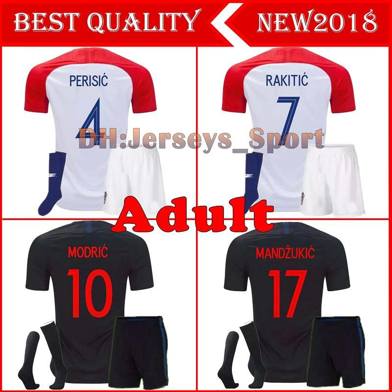 2019 2018 Designed For Home Adult Kit+Socks Soccer Jersey MODRIC PERISIC RAKITIC  MANDZUKIC SRNA KOVACIC KALINIC Hrvatska Football Shirt From Jerseys sport 90e3580b0
