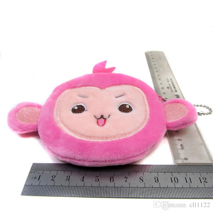 Manufacturer direct selling cartoon monkey super soft coin purse