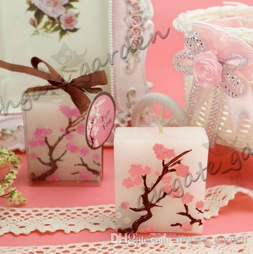 Wedding Candles Smoke-free Scented Wax Cherry Blossoms Candle Wedding Present Gifts Favors Party Decoration