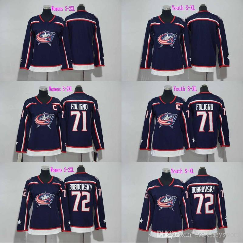 Lady And Youth 2017-18 New Season Columbus Blue Jackets Jersey Blank ... d02760139