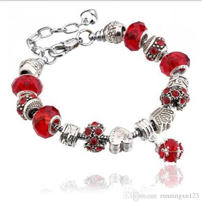 100 stücke Mode 925 Sterling Silber Gänseblümchen Murano GlassCrystal Europäischen Charme Perlen Passt Charme armbänder Stil Armbänder J087