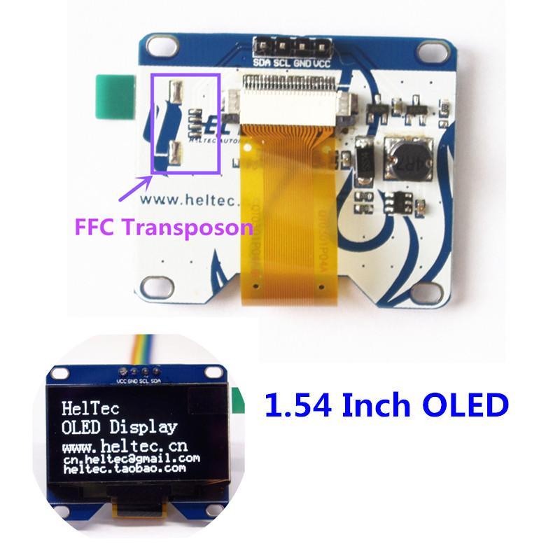 1 54 inch white oled module IIC i2c 128*64 for arduino