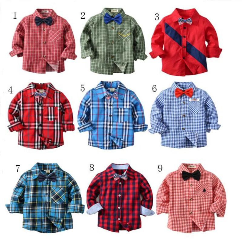 Boy's Tie Loyal 2019 New Spot Childrens Bow Tie Cotton Cotton Small Plaid Children Show Photo Shirt With Baby Bow Tie Flower Special Summer Sale